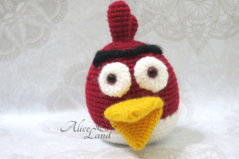Crochet Angry Bird Amigurumi angry birds handmade angry   Etsy