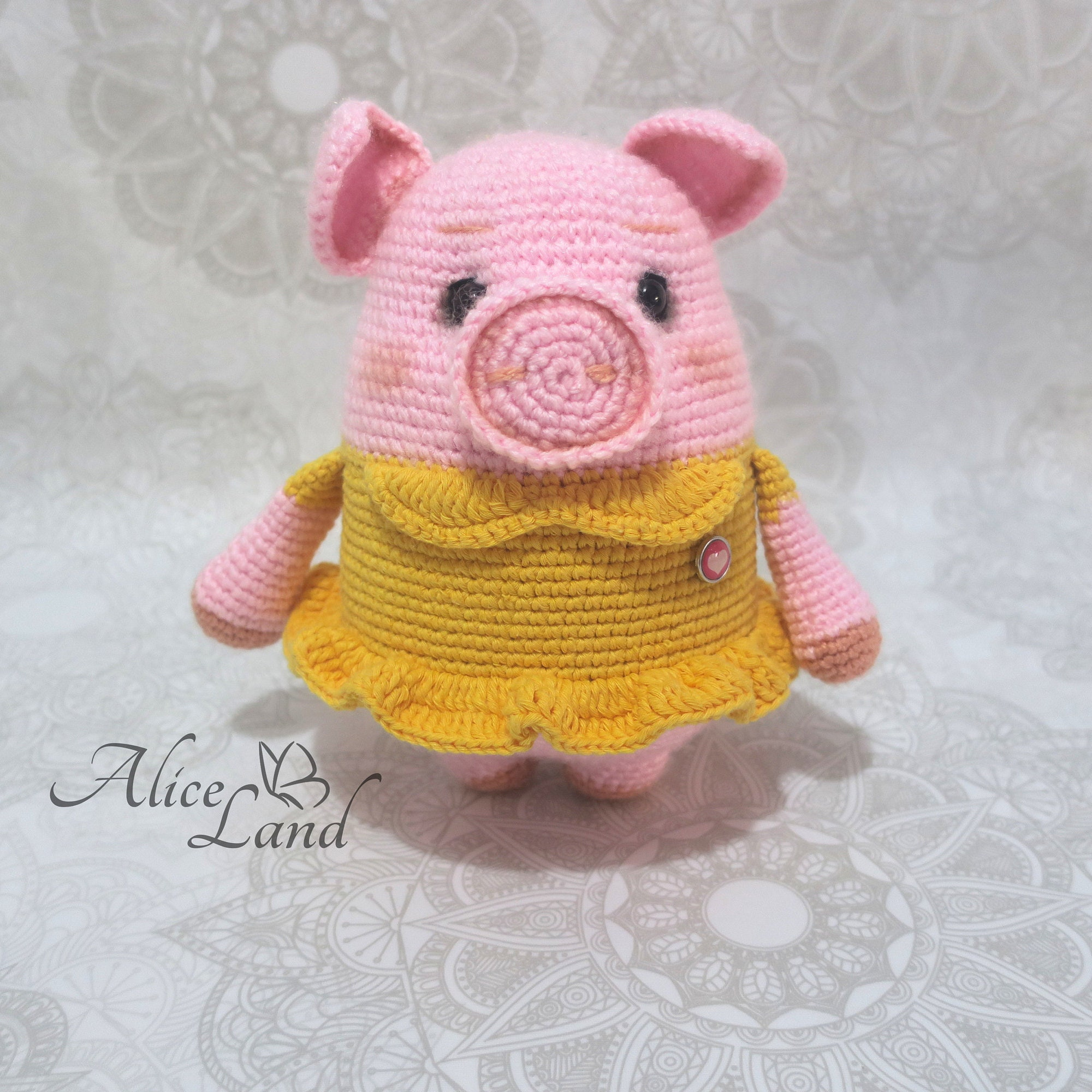 CROCHET PATTERN Amigurumi Pig Crochet Pig Pattern Pig | Etsy | 2000x2000