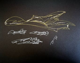 Time Machine | Time Machine Space Ship | Time Machine Vehicle | Time Travel Visionary | Idea Gift | Drawing