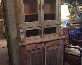 Rustic / Vintage / Shabby Chic Cabinet Kitchen Cabinet Pine 19th Century
