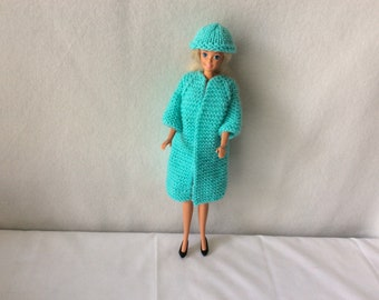 Knit coat for Barbie