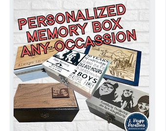 Personalized Keepsake Box, Memory Box, Family Keepsake, Jewelry Box, Wedding Gift, Gift Couple,  Wooden Box, Memorial Box, Remembrance Gift