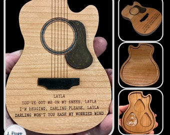 Guitar Storage Box, Guitar Pick Storage, Musician Gift, Guitar Player Gifts