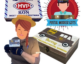 Personalized Postal Worker Gifts, Essential Worker Gifts, USPS Gifts, Delivery Driver Gifts, Custom Thank You Gift, Memory Box