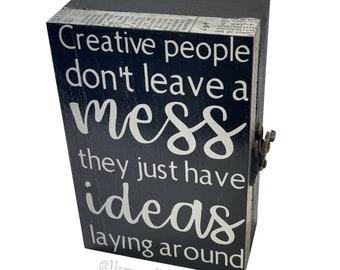 Creative People Quote - Trinket Box