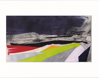 Promenade 6: Giclee Print of original collage with etching