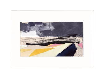 Promenade 2: Giclee Print of original collage with etching