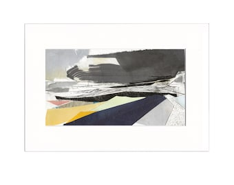 Promenade 1: Giclee Print of original collage with etching
