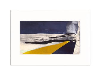 Promenade 3: Giclee Print of original collage with etching