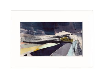 Promenade 7: Giclee Print of original collage with etching