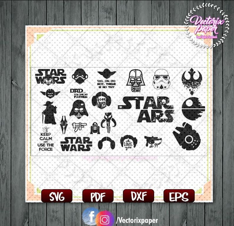 Star Wars SVG Collection and gift completly free, Star Wars dxf, Star Wars  Clipart, Star Wars Cricut, Star Wars Silhouette