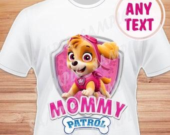 Paw Patrol Birthday Shirtpaw Outfitpaw Patrolpaw Iron On Transferpaw Skyepaw Girlmommy