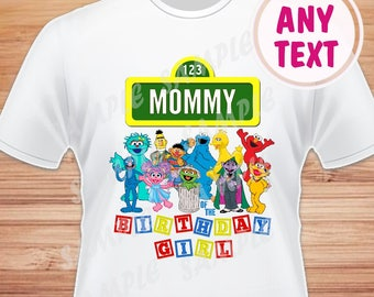 0c7d1ff9 Sesame street, sesame street birthday shirt, sesame street iron on  transfer, birthday outfit, digital file, personalized, any name, mommy