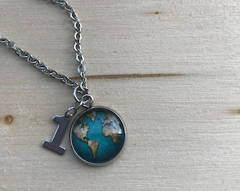 """18"""" Stainless Steel One Earth Necklace"""
