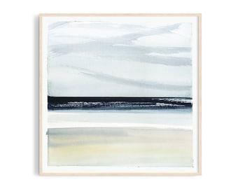 Art print: Sea watercolor. Fine art giclee print on archival paper. Illustration. 20x20, 30x30, 50x50, 76x76, 100x100 cm. Poster.