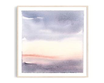 Art print: Daylight watercolor. Fine art giclee print on archival paper. Illustration. 20x20, 30x30, 50x50 cm. Poster.