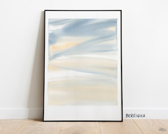 Art print: Yellow sky. Fine art giclee print on archival paper. Illustration. 50x70, 42x59,4, 30x42, 21x30 cm. Poster.