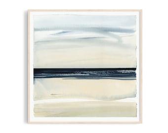Art print: Sea watercolor. Fine art giclee print on archival paper. Illustration. 20x20, 30x30, 50x50, 100x100 cm. Poster.