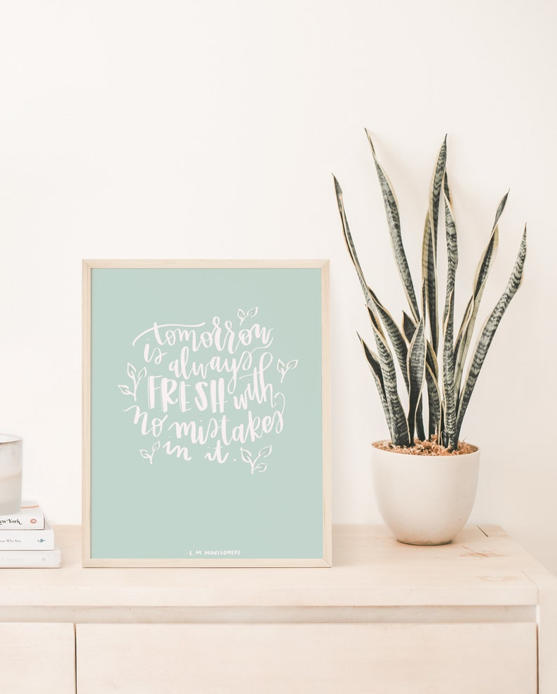 LM Montgomery Instant Digital Download Tomorrow Is Always Fresh Printable Anne of Green Gables