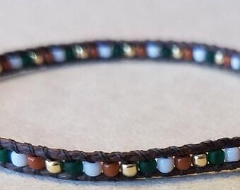 Seed bead bracelet, beaded hemp bracelet, beaded bracelet, beaded jewelry, adjustable bracelet, gold bracelet, boho bracelet, gift for her