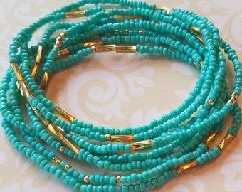 Turqoiuse seed bead bracelet, beaded bracelet, stretch bracelet, beaded jewelry, seed bead bracelets, stretch seed bead bracelet