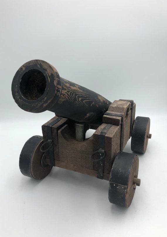 Large Vintage Model Wood Cannon Toy Artillery Decor | EtsyEtsy