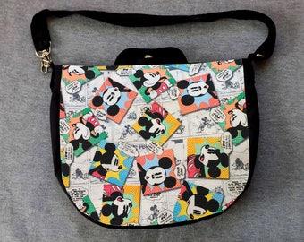 Mickey Mouse News Cross Body Purse Messenger Bag
