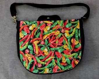 Chili Pepper Cross Body Purse Messenger Bag
