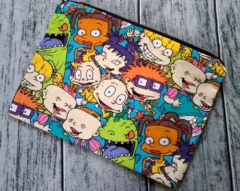 Rugrats Character Pack Poly Mesh Zipper Pouch Cosmetic Makeup Bag