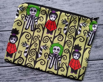 Gothy Toons in the Afterlife Poly Mesh Zipper Pouch Cosmetic Makeup Bag