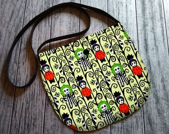Gothy Toons in the Afterlife Cross Body Unisex Bag Purse Tote Festival