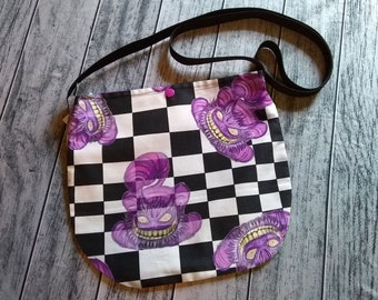 Vanishing Cheshire Cat Cross Body Unisex Bag Wonderland Purse Tote Festival Ready to Ship