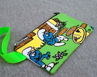 Smurf Wristlet Clutch Bag Purse Ready to Ship