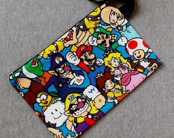 Pack Mario Character Wristlet Clutch Bag Purse Ready to Ship