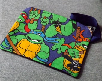 TMNT Ninja Turtle Wristlet Clutch Bag Purse Ready to Ship