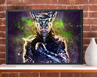 Loki God of mischief Art movie poster Thor Avengers Tom Hiddleston