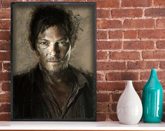 Daryl The walking dead art poster