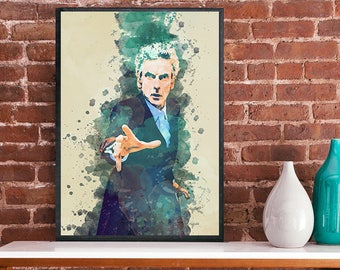 Dr Who 12th Doctor Peter Capaldi art poster