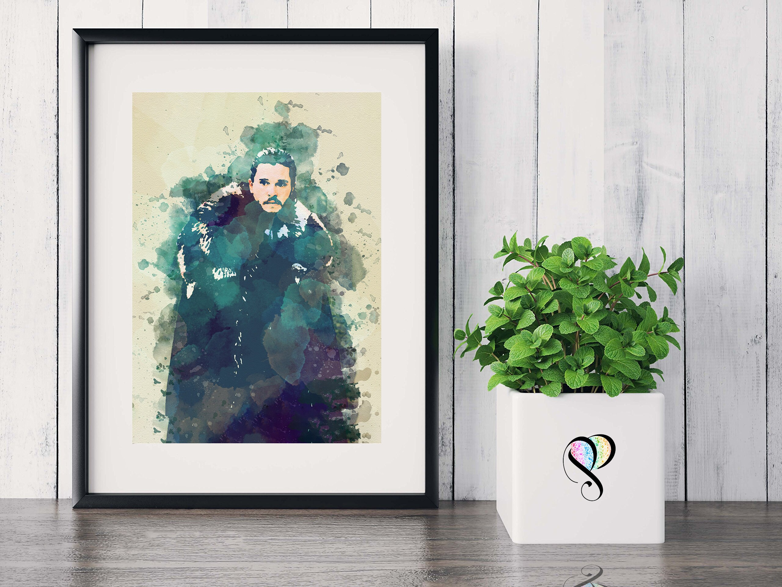 A0 A1 A2 A3 A4 Sizes Game Of Thrones Jon Snow Kit Harington Poster Art Print