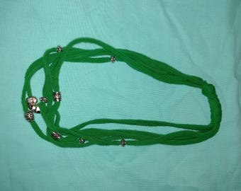 Green t-shirt necklace