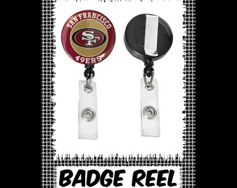 Retractable Badge Reel Name Tag ID Pull Clip Holder San Francisco SF 49ers Gift