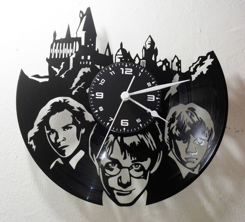 Hogwarts Express/_Exclusive wall clock made of vinyl record clock