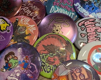 """3 for 10 - 2.25"""" Pinback Buttons"""