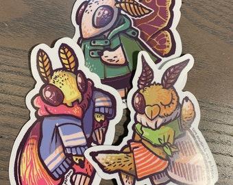 "Fashion Moths - 3"" Vinyl Stickers"