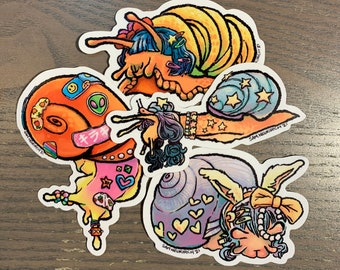 "Decora Snails - 3"" Vinyl Stickers"