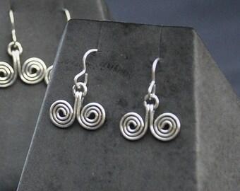 Spiral earrings in 925 Silver
