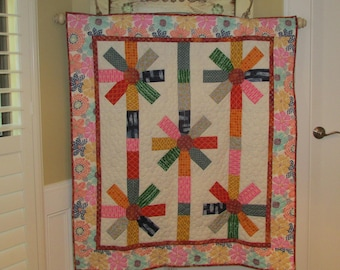 Petals on a String Quilt Kit