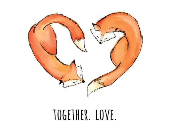 Fox wedding print | Together. Love.