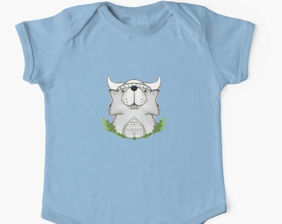 Viking Wolf Fenrir Baby Onesie