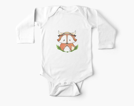 Viking Fox Onsie for Newborns and Babies